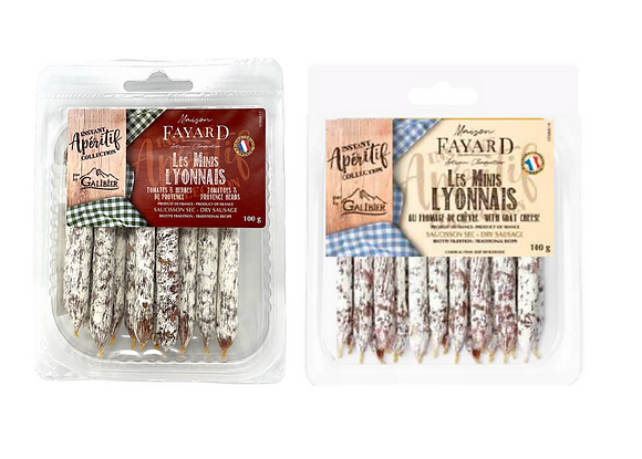 Tomatoes  and Provence herbs & Goat Cheese dry sausages Maison Fayard 6 x 110g