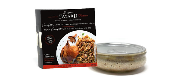 Duck confit and mashed potatoes with ceps Maison Fayard 8 x 280g