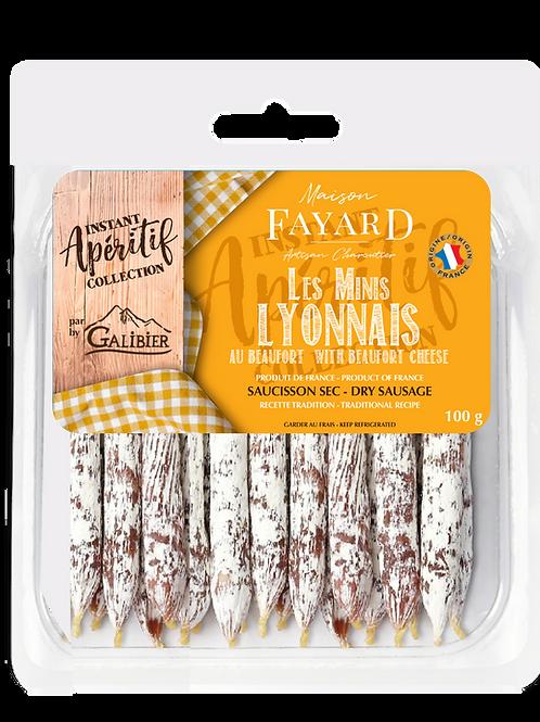 Saucisson Sec / Dry Sausage Les Minis Lyonnais Beaufort Cheese 100g