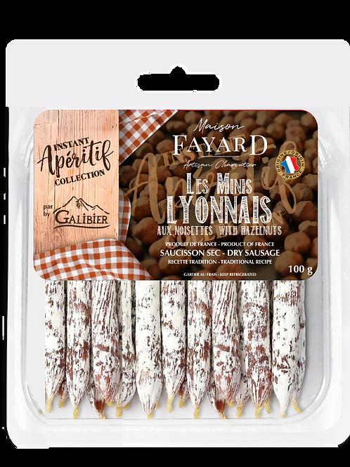 Saucisson Sec / Dry Sausage Minis Lyonnais with Hazelnuts  100g