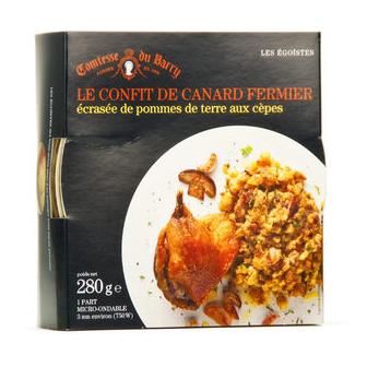 Confit de canard et purée de pommes de terre aux cèpes Comtesse du Barry 310g
