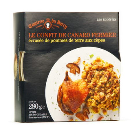 Duck confit and mashed potatoes with cep 310g - LA COMTESSE DU BARRY