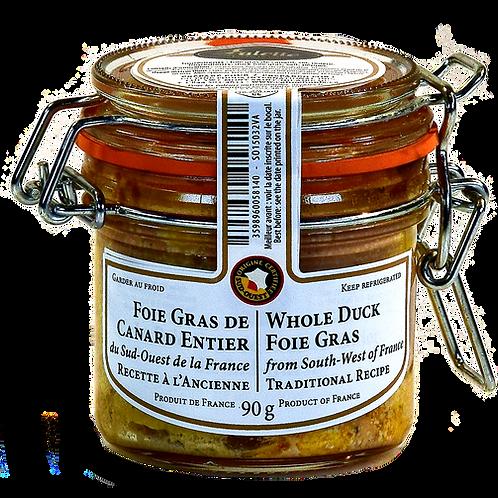 Whole Duck Foie Gras / Fois Gras de Canard entier Valette 90g