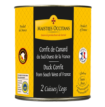 Duck confit from South West of France Maistres Occitans 760g