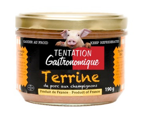 Terrine de Porc aux Champignons / Pork Terrine with mushrooms 190g