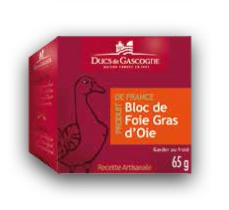 Goose foie gras block Ducs de Gascogne 65g