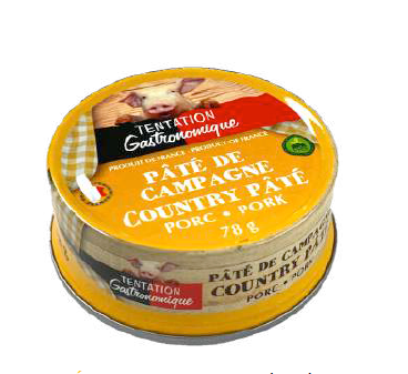 Country french pâté Tentation Gastronomique 78g x 4
