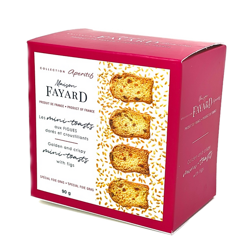 Mini-Toasts with figs / Minis-toasts aux figues 90g - Maison Fayard