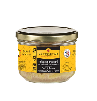 Duck rillettes from South West of France Maistres Occitans 180g