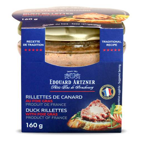Duck Rillettes with Foie Gras 160g - EDOUARD ARTZNER