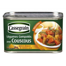 Coucous cooked vegetables Cassegrain 375g