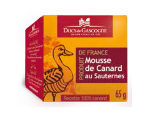 Duck mousse with Sauternes Ducs de Gascogne 4 x 65g