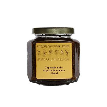 Tapenade Olives Noire & Pesto de Tomates / Olives Noires 190ml