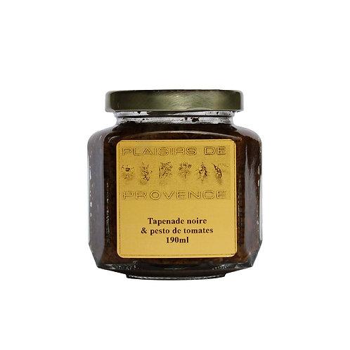 Tapenade Olives Noire & Pesto de Tomates / Black Olives 190ml