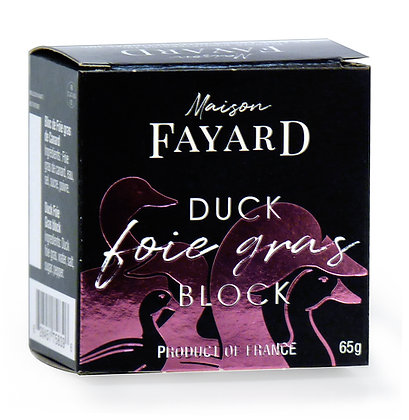 Bloc de foie gras de canard Maison Fayard 65g