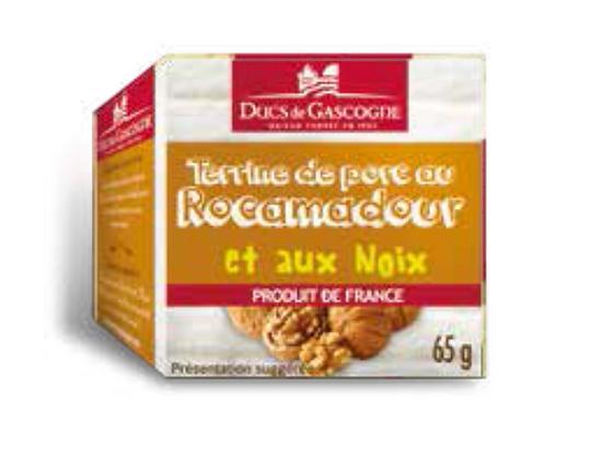 Pork terrine nuts and rocamadour Ducs de Gascogne 4 x 65g