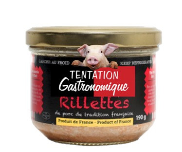French Pork Rillettes Tentation Gastronomique 190g
