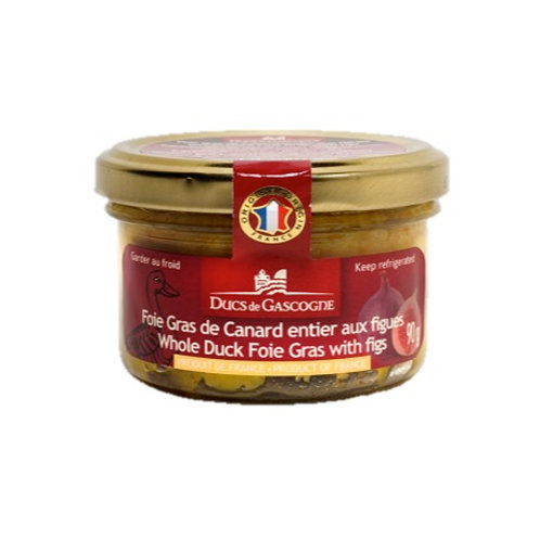 Whole Duck Foie Gras Figs 90g - DUCS DE GASCOGNE