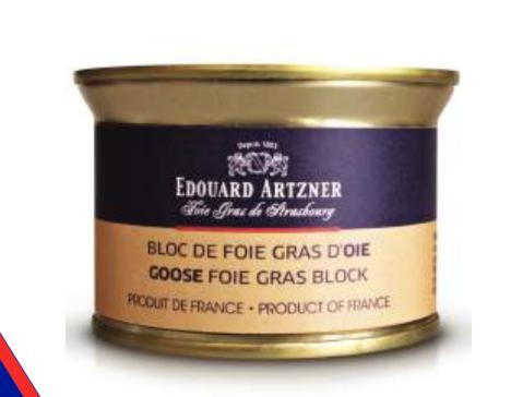Goose foie gras block Edouard Artzner 130g
