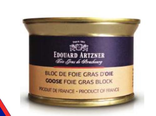 Bloc de Foie Gras d'Oie / Goose Foie Gras Block 130g - EDOUARD ARTZNER