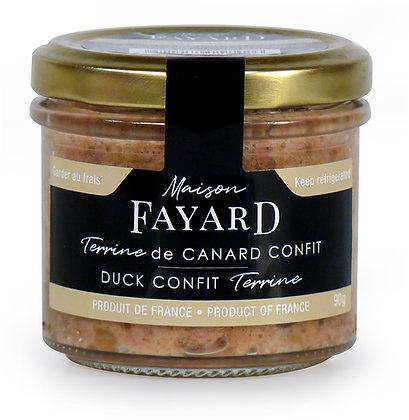 Terrine de canard confit Maison Fayard 90g