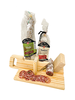 Dry sausages and Guillotine set Galibier
