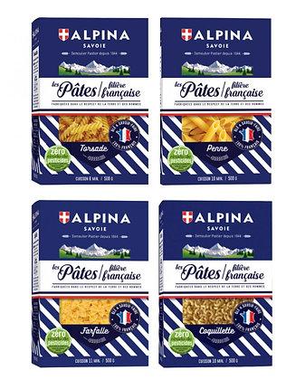 Set of 4 pasta boxes Alpina 4 x 550g