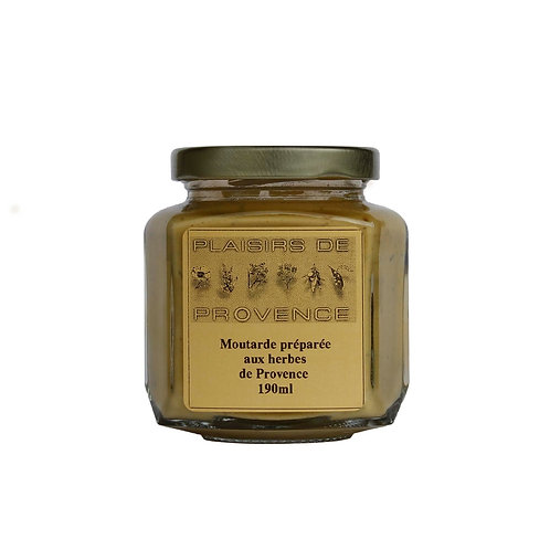 Moutarde aux herbes de provence / Herb of Provence mustard 190g