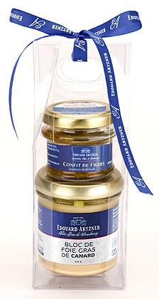 Duck foie gras block and figs confit Edouard Artzner 130g