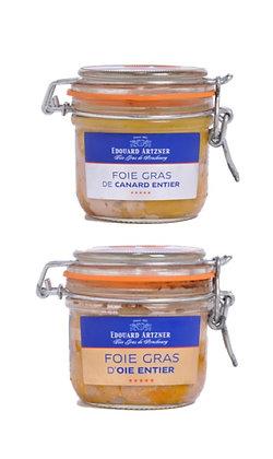 Foie gras de canard et d'oie entiers Edouard Artzner Lot de 2 x 120g