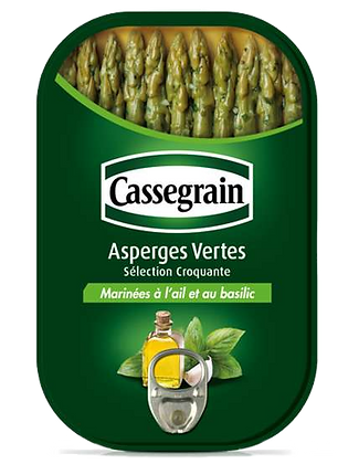 Marinated green aspergus Cassegrain 210g