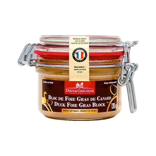 Bloc de Foie Gras de Canard / Duck Foie Gras Block 130g - DUCS DE GASCOGNE