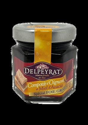 Onion confit with acacia Honey Delpeyrat 50g