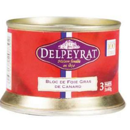 Duck Foie Gras Block with Porto & Armagnac 120g - DELPEYRAT