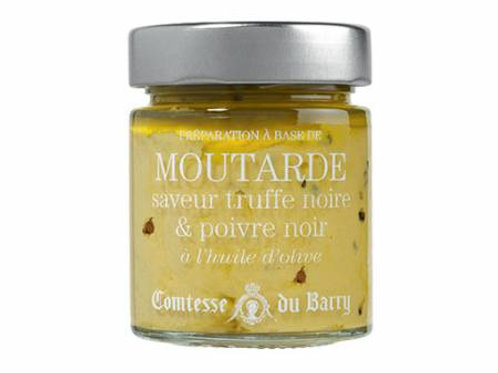 Black truffle and black pepper flavoured mustard with olive oil 130g