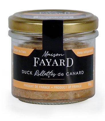 Duck rillettes Maison Fayard 90g