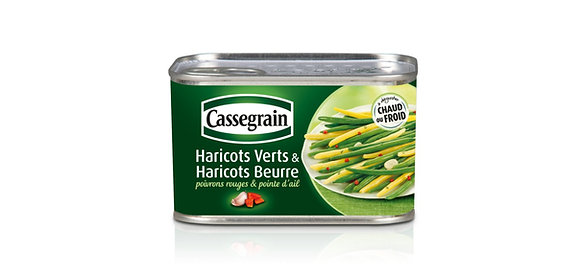 Haricots verts haricots beurre Cassegrain 6 x 375g