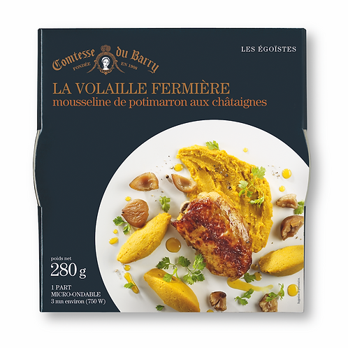 Free range Poultry with its smooth silky squash and chestnut purée 280g