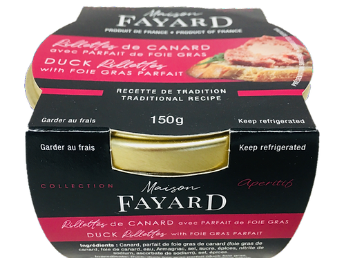 Duck Rillettes with Foie Gras 150g - MAISON FAYARD