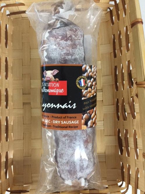 Saucisson Sec / Dry Sausage Hazelnuts 175g - TENTATION GASTRONOMIQUE