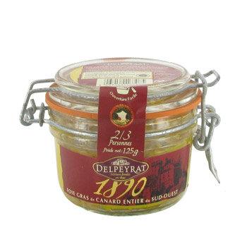 Foie Gras de Canard Entier Delpeyrat 125g
