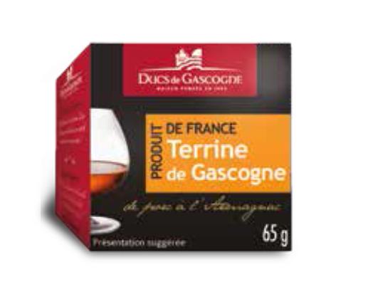 Gascony terrine with Armagnac Ducs de Gascogne 4 x 65g