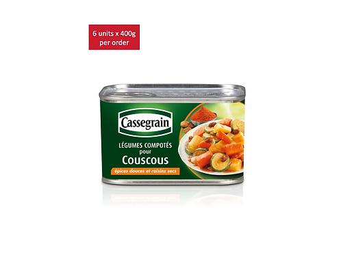 Couscous cooked vegetables 6 x 375g - CASSEGRAIN