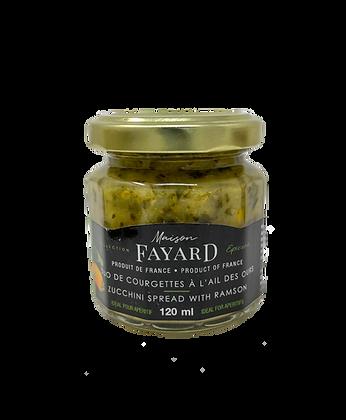 Tartinade de courgettes à l'ail des ours Maison Fayard 120 ml