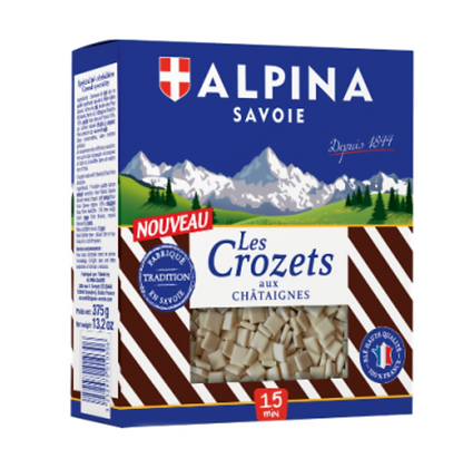Crozets with chestnuts Alpina 375g