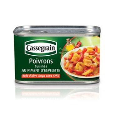 Poivrons au Piment d'Espelette / Peppers with Espelette Pepper 375g - CASSEGRAIN