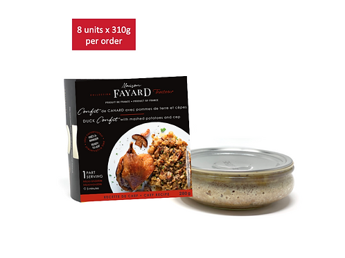 Duck confit and mashed potatoes with cep 8 x 280g - MAISON FAYARD