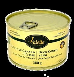 Confit de Canard 1 Cuisse Valette 380g