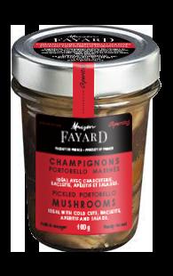 Champignons Portobello marinés Maison Fayard 100g