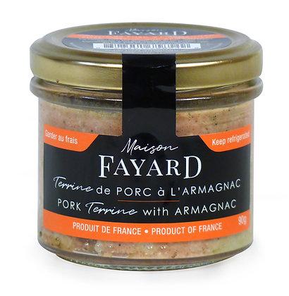 Terrine de porc à l'armagnac Maison Fayard 90g